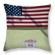 Advertisement On Route 66 In Arizona Throw Pillow
