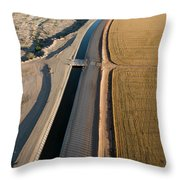 Aerial Border Patrol On The U.s.mexico Throw Pillow