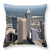 Aerial Of Downtown Indianapolis Indiana Throw Pillow
