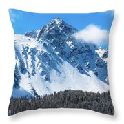 Aerial Of Mount Sneffels With Snow Throw Pillow