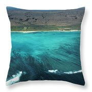 Aerial Of Ningaloo Reef And Cape Range Throw Pillow
