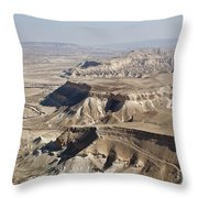 1-aerial Photography Of The Negev  Throw Pillow