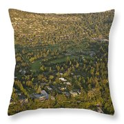Aerial View Of Bellevue Skyline Throw Pillow