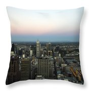 Aerial View Of Melbourne Throw Pillow
