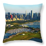 Aerial View Of Museum Campus Throw Pillow