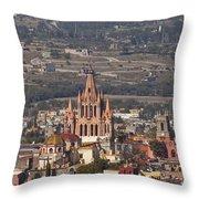 Aerial View Of San Miguel De Allende Throw Pillow