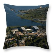 Aerial View Of The New Husky Stadium Throw Pillow