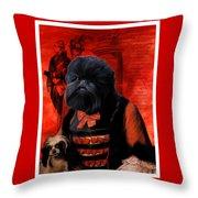 Affenpinscher Art By Nobility Dogs Throw Pillow