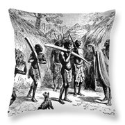 Africa Ivory Trade Throw Pillow