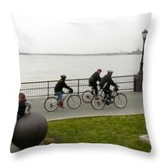 After Hurricane Sandy Throw Pillow by Randi Shenkman