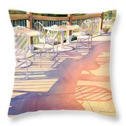 Afternoon Shadows At Les Bourgeois Throw Pillow