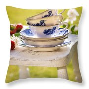 Afternoon Tea Throw Pillow