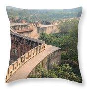 Agra Fort Tourist Destination In India Throw Pillow