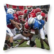 Air Force Versus Houston Throw Pillow