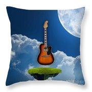 Air Guitar Throw Pillow