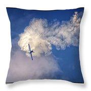 Air Show Selfridge Havilland Super Chipmunk Throw Pillow