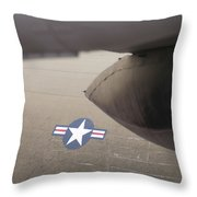 Airplanes At The Airshow Throw Pillow