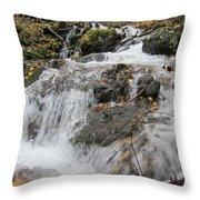 Alaskan Waterfall Throw Pillow