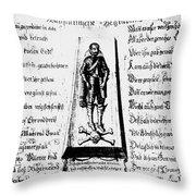 Albrecht Von Wallenstein (1583-1634) Throw Pillow
