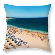 Albufeira Beach Throw Pillow