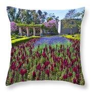 Alcazar Garden Vibrant Color Display Balboa Park  Throw Pillow