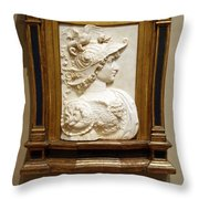 Alexander The Great By Andrea Del Verrocchio Throw Pillow