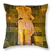 Alexander The Great In Antalya Archeological Museum-turkey Throw Pillow
