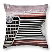 Alfa-romeo Guilia Super Grille Emblem Throw Pillow