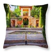 Alhambra In Granada Throw Pillow