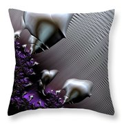 Alien Arrival Throw Pillow by Bill Owen
