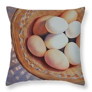 All My Eggs In One Basket Throw Pillow