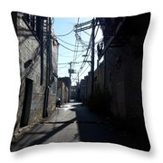Alley 19 Throw Pillow