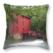 Alley Springs Mill  Throw Pillow