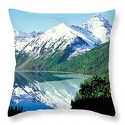 Altai Mountains Throw Pillow by Anonymous