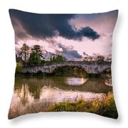 Alyesford Bridge Throw Pillow