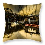 Alyesford Lock Throw Pillow
