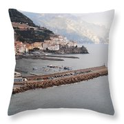 Amalfi Italy Throw Pillow