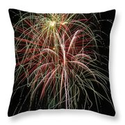 Amazing Fireworks Throw Pillow by Garry Gay