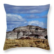 Amber Waves Of Grain And Purple Mountains Throw Pillow