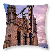 Ambler Theater Throw Pillow