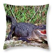 American Alligator Throw Pillow
