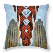 American Architecture Throw Pillow