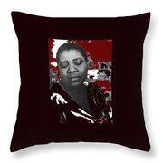 American Blues Singer Bessie Smith Unknown Date-2013 Throw Pillow
