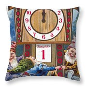 American New Years Card Throw Pillow