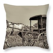 Amish Boy Tips Hat Throw Pillow