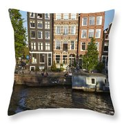 Amsterdam - Old Houses At The Herengracht Throw Pillow