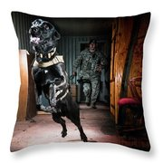 An Air Force Security Forces K-9 Throw Pillow