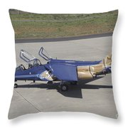 An Alpha Jet Of The Portuguese Air Throw Pillow