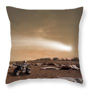 An Artists Depiction Of The Close Pass Throw Pillow by Marc Ward