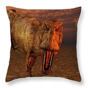 An Asteroid Hitting The Earth, Marking Throw Pillow